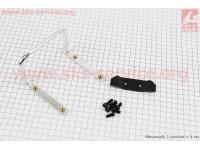 Кронштейн для 2-х флягодержателей, алюминиевый, крепл. на рамку седла, SBH-300 [Китай]