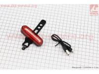 Фонарь задний 120 lumen, Li-ion 3.7V 600mAh зарядка от USB, влагозащитный, AQY-096 [Китай]