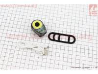 Фонарь передний 100 lumen, алюминиевый, Li-ion 3.7V 500mAh зарядка от USB, влагозащитный, серый BK200 [Китай]