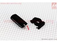 Фонарь передний 2 диодa, черный JY-7021 (без батареек) [Китай]