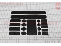 Защитная пленка на раму (0,15мм), карбон [Китай]