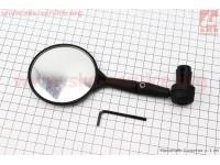 Зеркало круглое, регулируемое, черное JY-6 [Китай]