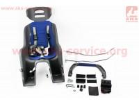 Сиденье для перевозки детей пластмассовое заднее, крепл. быстросъемное, трехточечный ремень безопасности, SBC-137 [SPELLI]