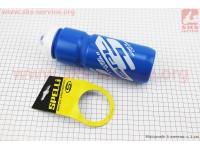 Фляга пластиковая 800мл, с защитной крышкой, сине-белая SWB-528-L [SPELLI]