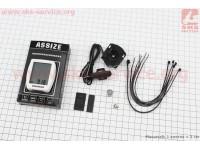 Велокомпьютер 11-функций, проводной, белый AS-411 [ASSIZE]