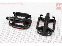 """Педали MTB 9/16"""" (104x77x32mm) алюминиевые, черные WP895 [Neco]"""