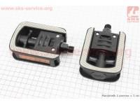 """Педали FOLDING складные 9/16"""" (109x76x35mm) пластиковые, черно-серые NW-319 [FPD]"""