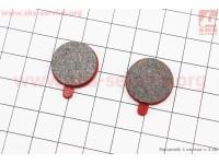 Тормозные колодки диск. тормоз к-кт (Zoom DB250,350,450,550), красные YL-1013 [Andson]