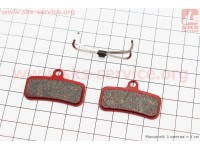 Тормозные колодки диск. тормоз к-кт (Shimano Saint 2009, zee), красные YL-1039 [Andson]