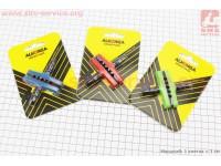 Тормозные колодки V-brake 60мм, цветные HJ-EN02 (тип 1) [ALHONGA]