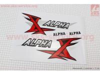 "Наклейка ""ALPHA"" на бак лев, прав к-кт 2шт (35х14см) [Китай]"