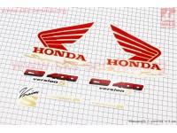 """Наклейка """"HONDA CB400"""" 7шт (11х17см) красный [Китай]"""