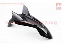 Loncin- LX200GY-3 пластик - Крыло переднее, ЧЕРНЫЙ [Китай]