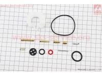 Ремкомплект карбюратора, 13 деталей+поплавок 168F/170F [ТАТА]