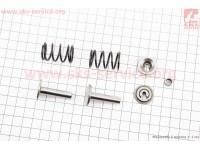 Клапанный механизм к-кт 168F/170F (пружина-2шт, + компенсатор клапана-1шт, + тарелка клапана-2шт, + толкатель-2шт)  [Китай]