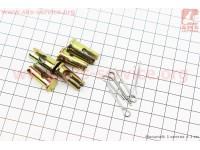 Шплинт + стопор D=10мм, L=22мм к-кт 5шт, фиксатор троса на рычаге сцепления и реверса [Китай]