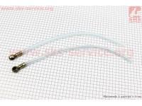 Трубка - шланг топливный L=450мм, к-кт 2шт [Китай]