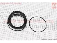 Кольцо (манжет) уплотнительное гильзы 80мм, чёрное R180NM, к-кт 10шт [Viper]