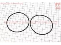 Кольцо (манжет) уплотнительное гильзы 80мм, чёрное R180NM, к-кт 2шт [Китай]