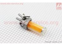 Кран топливный + фильтр в пластмассовом, прозрачном корпусе Тип №2 [Китай]