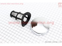 Крышка бака топливного + сито (под потайную горловину), метал [Китай]