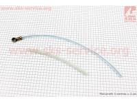 Трубка - шланг топливный L1=420мм, L2=200мм, к-кт 2шт [ТАТА]