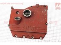 Крышка блока двигателя правая (со стороны заводного рычага), 9отв., чугунная R190N/195NM Тип №2 [Китай]