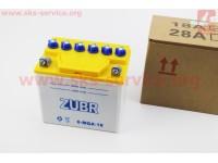 Аккумулятор 18Аh 6-MQA-18 кислотный (L175*W125*H185mm) [ZUBR]