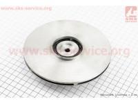 Рабочее колесо (крыльчатка) D=150mm, под вал d=20mm, 6 лопастей, алюминий [Китай]