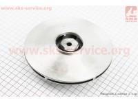 Рабочее колесо (крыльчатка) D=160mm, под вал d=20mm, 6 лопастей, алюминий [Китай]