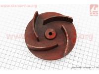 Рабочее колесо (крыльчатка) D=123mm, под вал d=20mm, 4 лопасти, чугун [Китай]
