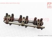 Коромысло клапана с стойками в сборе (с рейкой) (L375-03205) [Китай]