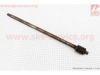 Вал рулевого механизма с червяком старого образца  L=536mm Xingtai 120/220 [Китай]