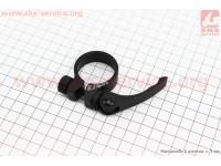 Зажим трубы сидения MTB 34,9мм (алюминиевой рамы), крепл. эксцентрик, черный XTB-C
