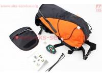 Рюкзак влагозащитный 5 литр., с диодным указателем направления, пульт дистанционного управления, Li-ion 3.7V 600mAh зарядка от USB, оранжевый [Китай]