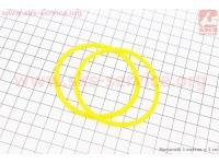Кольцо (манжет) уплотнительное гильзы к-кт 2шт, желтые R190N [Китай]
