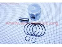 Поршень, кольца, палец к-кт R185N 85мм STD (с выборкой под клапана)