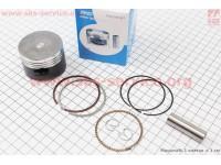 Поршень, палец, кольца к-кт 110сс 52,4мм STD (тефлоновое покрытие) Japan technology (палец 13мм) [SAKOU]