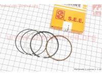 Кольца поршневые 110сс 52,4мм +0,50 желтая коробка [SEE]