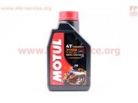4T-7100 SYNTHETIC 100% 10W-30 масло для мотоциклетных двигателей, синтетическое, 1л [MOTUL]