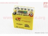Аккумулятор 5Аh (гелевый, желтый) Active 120/60/130мм с ИНДИКАТОРОМ, 2016 [B-cycle]