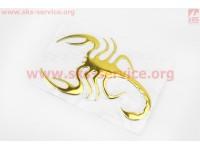 "Наклейка шильдык ""Скорпион"" золотистая 13х9, 4735 [Китай]"
