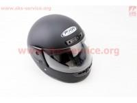 Шлем закрытый HF-101 S- ЧЕРНЫЙ матовый [FXW]
