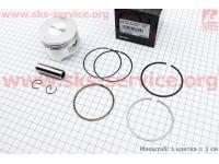 Поршень, кольца, палец к-кт 200cc 63,5мм STD (палец 15мм) [Китай]