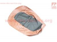 Чехол сиденья Юпитер-5 (эластичный, прочный материал) черный/каричневый