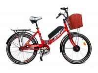 Электровелосипед A6 складной FOLD 350Вт 13Ач с LCD пультом управления красный