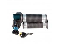 Ручка газа FARAD скутерная 12V 24V 36V 48V 60V 72V (В) вольт c цифровой индикацией и замком зажигания
