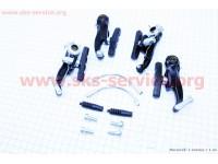 Тормоз V-brake задний+передний в сборе 80мм, черные SYPO YD-V29 [Китай]