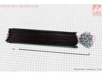 Спица 14Gх292мм, черная (100 шт.) [Китай]