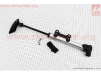 Насос MTB алюминиевый с Т-ручкой, черный SPM-109